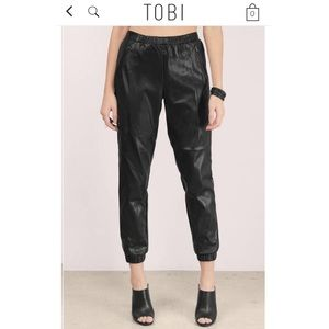 Tobi Pleather Joggers
